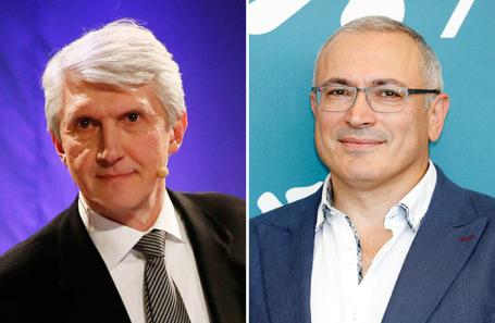 Платон Лебедев, Михаил Ходорковский (справа).
