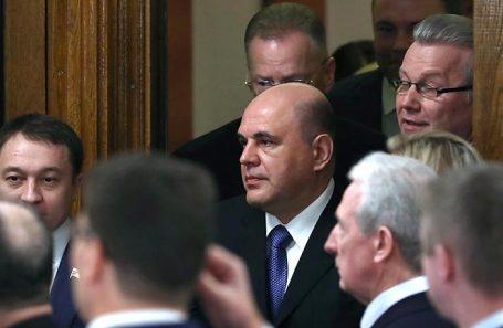 Михаил Мишустин (в центре).