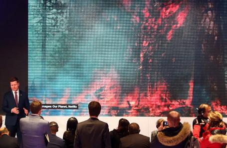 На Всемирном экономическом форуме в Давосе.