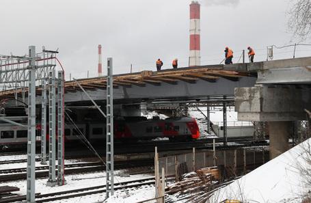 Строительство участка Юго-Восточной хорды.