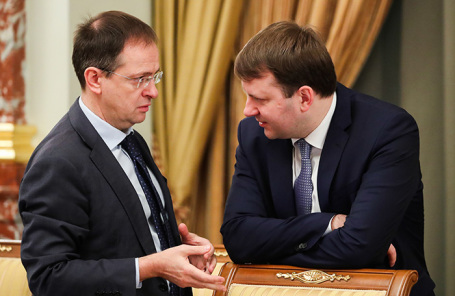 Владимир Мединский и Максим Орешкин (слева направо).