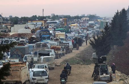 Эвакуация мирного населения. Провинция Идлиб, Сирия.