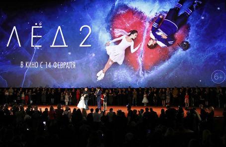 На премьере фильма «Лед 2» режиссера Жоры Крыжовникова в кинотеатре «Октябрь».