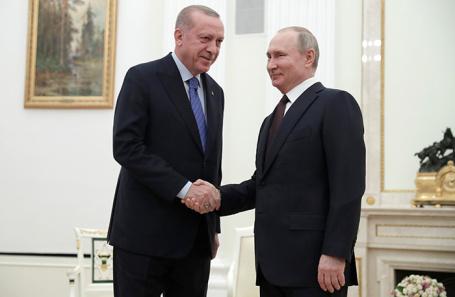 Реджеп Тайип Эрдоган и Владимир Путин.