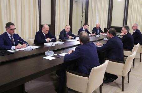 Владимир Путин на встрече с инвесторами в Ново-Огареве.