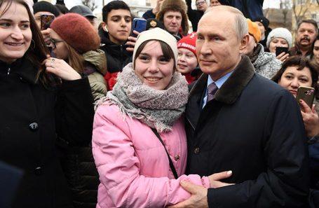 Владимир Путин во время встречи с жителями Ивановской области. Март 2020 года.