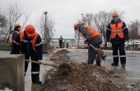 Участок строительства Юго-Восточной хорды.