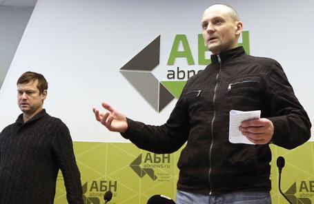 Леонид Развозжаев и Сергей Удальцов (слева направо).