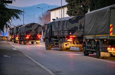 Военная техника в Бергамо.