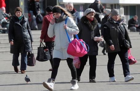 На одной из улиц Минска во время вспышки коронавируса.