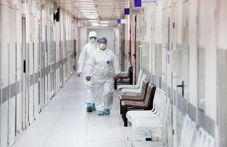 Филатовская больница, перепрофилированная для приема пациентов с коронавирусом.