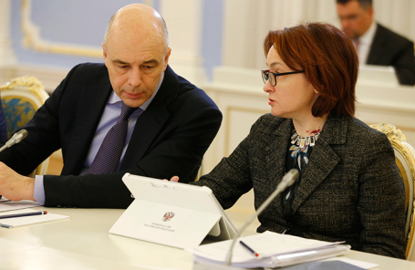 Антон Силуанов и Эльвира Набиуллина.