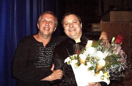 Владимир Бойко (на фото слева) вместе с продюсером «Ласкового мая» Андреем Разиным.
