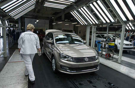Завод Volkswagen Group Rus в Калуге.