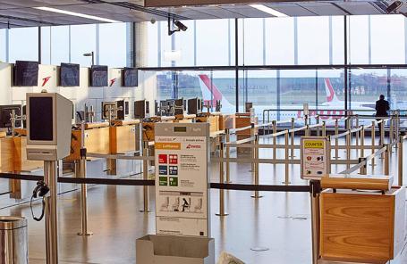 Аэропорт Швехат в Вене, Австрия.
