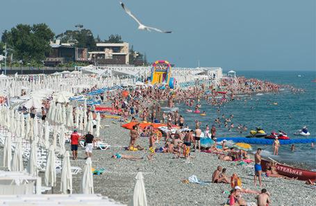 Пляжный отдых на Черноморском побережье.