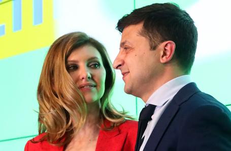Владимир Зеленский с супругой Еленой.