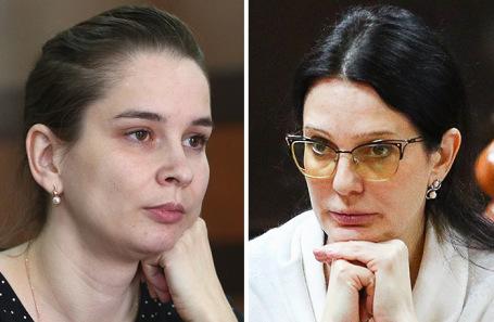 Врач-неонатолог Элина Сушкевич (слева), и.о. главврача роддома № 4 Елена Белая.