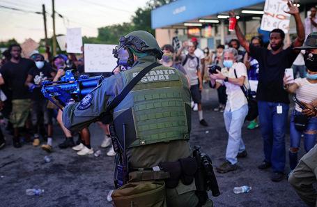 Протесты в Атланте.