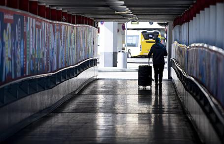 Берлинский аэропорт «Тегель» во время пандемии коронавируса COVID-19.
