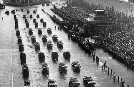 Парад Победы на Красной площади в Москве, 24 июня 1945 года.