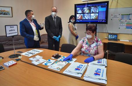 ЕГЭ по русскому языку в одной из московских школ.