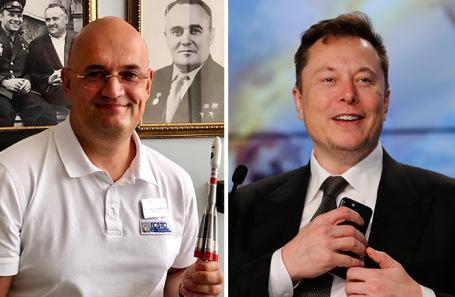 Андрей Королев (слева). Илон Маск.