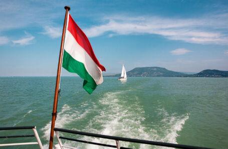 Озеро Балатон в Венгрии.