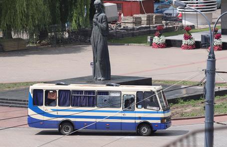 Автобус с заложниками в Луцке.