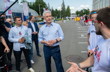 Сергей Собянин на спортивном празднике в «Лужниках».