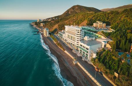 Отель «Море» в Алуште, Крым.
