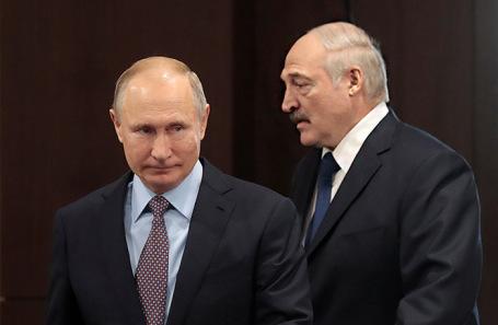 Владимир Путин и Александр Лукашенко. Архивное фото.