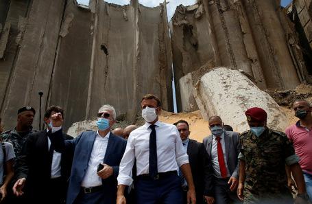 Президент Франции Эммануэль Макрон в Бейруте.