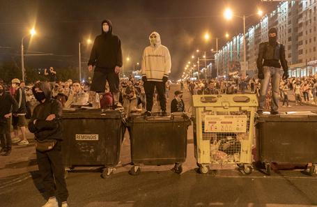 Участники акции протеста в Минске.
