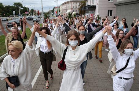 Акция в поддержку задержанных и пострадавших во время протестов в Минске.