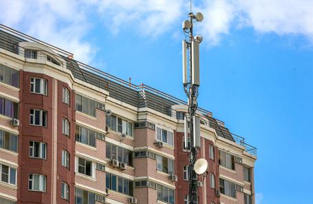 Вышка сотовой связи в Москве.
