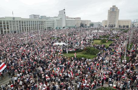 Акция сторонников оппозиции в Минске.