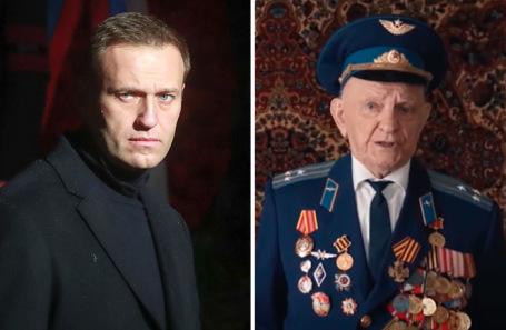 Оппозиционер Алексей Навальный. Ветеран Игнат Артеменко.