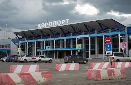 Аэропорт в Томске, откуда вылетел Алексей Навальный перед госпитализацией.
