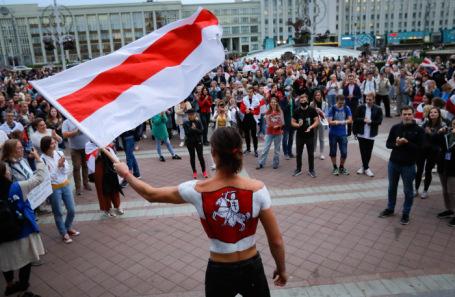 Демонстрация оппозиции в Минске.
