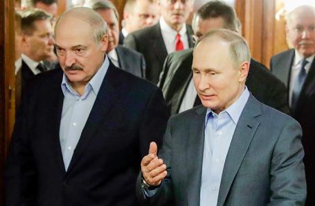 Александр Лукашенко и Владимир Путин (архивное фото).