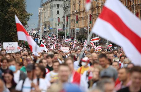В Белоруссии продолжаются несанкционированные акции протеста