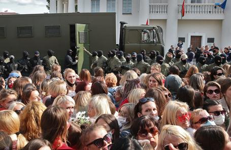 В Минске задержаны около 30 участниц акции протеста