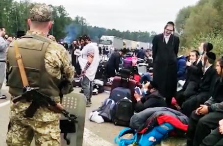Сотни паломников-хасидов застряли на границе Украины и Белоруссии