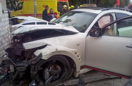 Встрашном ДТП встолице достаточно серьезно  пострадали три человека