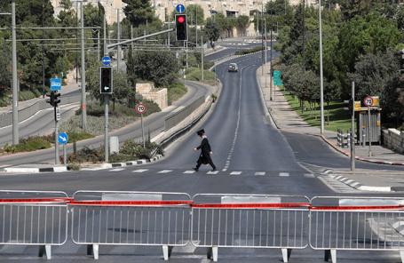 Карантин в Иерусалиме, Израиль.