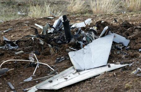 Останки беспилотника в окрестностях Степанакерта.