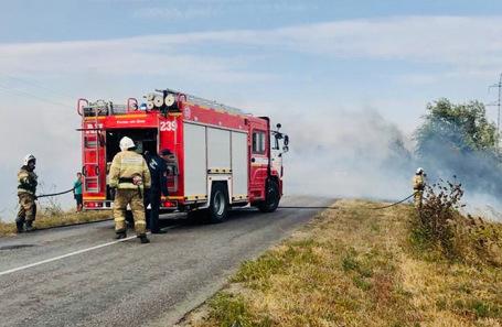 Тушение природного пожара в Аксайском районе.
