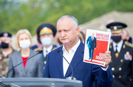 Президент Молдавии Игорь Додон во время своей избирательной кампании.