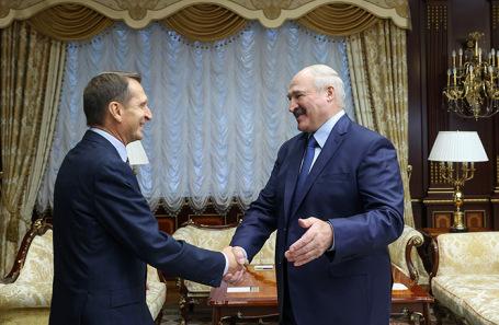 Сергей Нарышкин и Александр Лукашенко.
